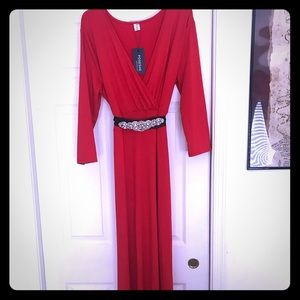 Plus size, red holiday dress. Size 18